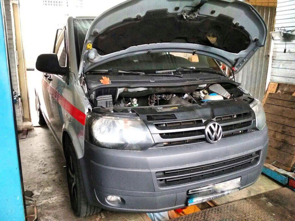 Volkswagen T5 2.0 TDI 2013 удалить сажевик
