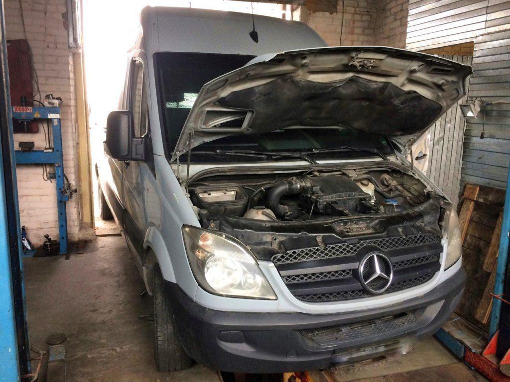 Удалить клапан ЕГР и сажевик Mercedes-Benz Sprinter 3.0 CDI