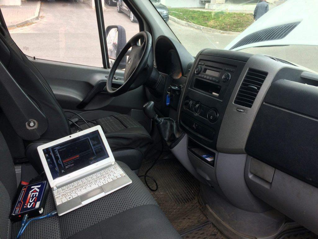 Отключить сажу и ЕГР на Mercedes-Benz Sprinter  2.2 CDI 2011