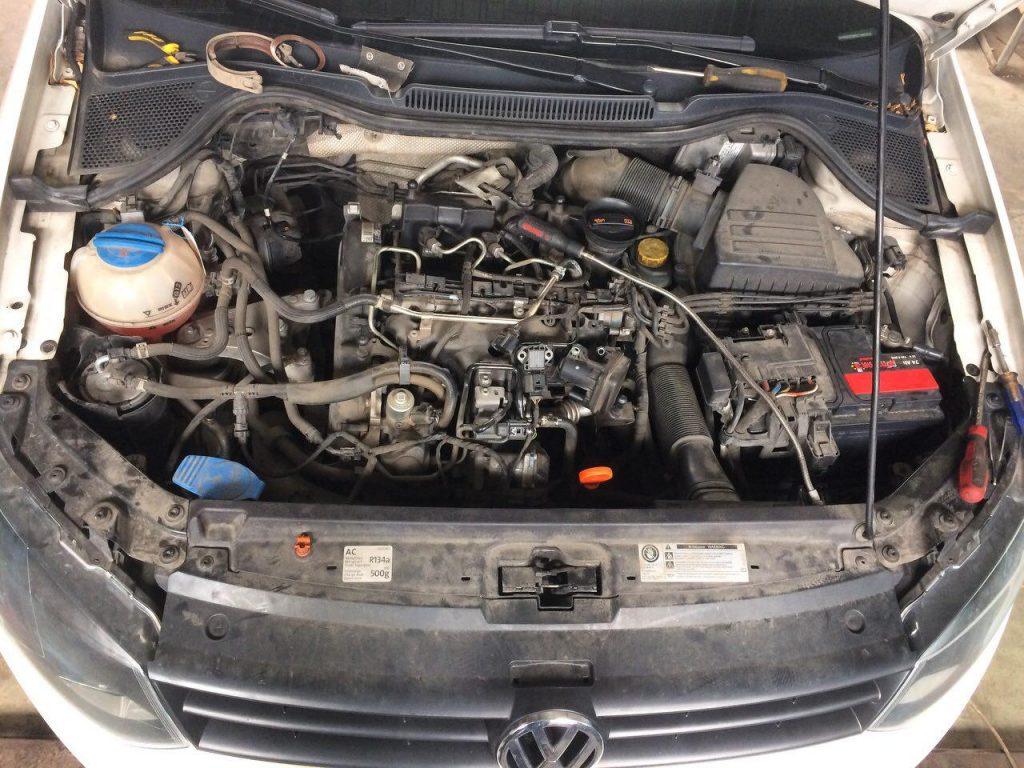 Удаление сажевого фильтра и заглушка клапана ЕГР Volkswagen Polo 1.2 TDI 2012