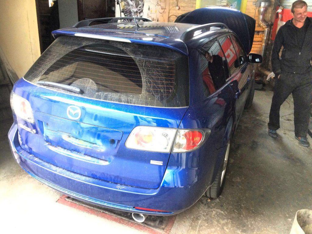 Удалить сажевик Mazda 6 2.0 Di 2006