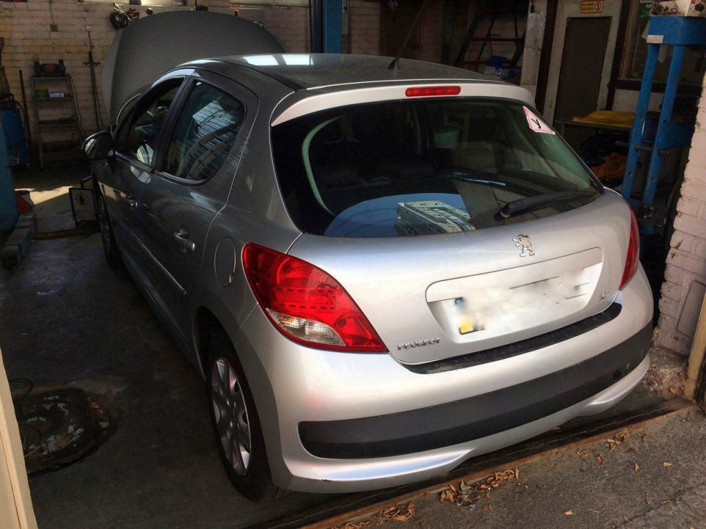 Peugeot 207 1.4 HDi 2011 отключить и удалить сажевый фильтр