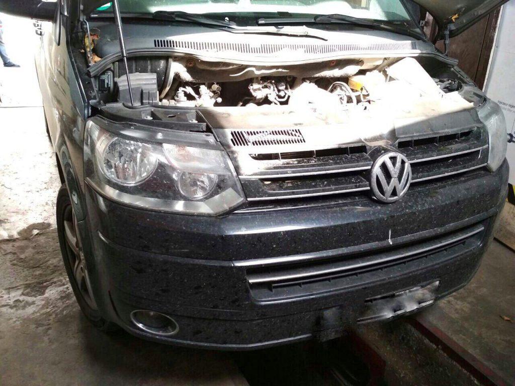 Удалить сажевый фильтр Volkswagen T5 2.0 TDI 2011