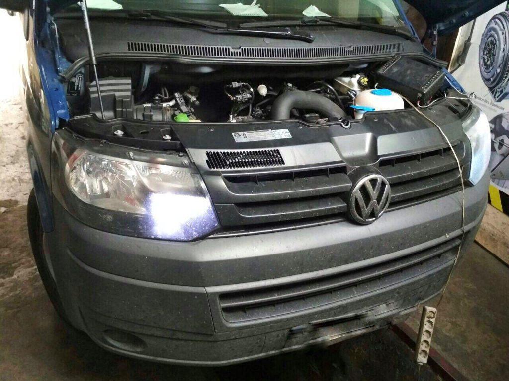 Отключить клапан ЕГР и сажевый фильтр на Фольцваген Т5 2012