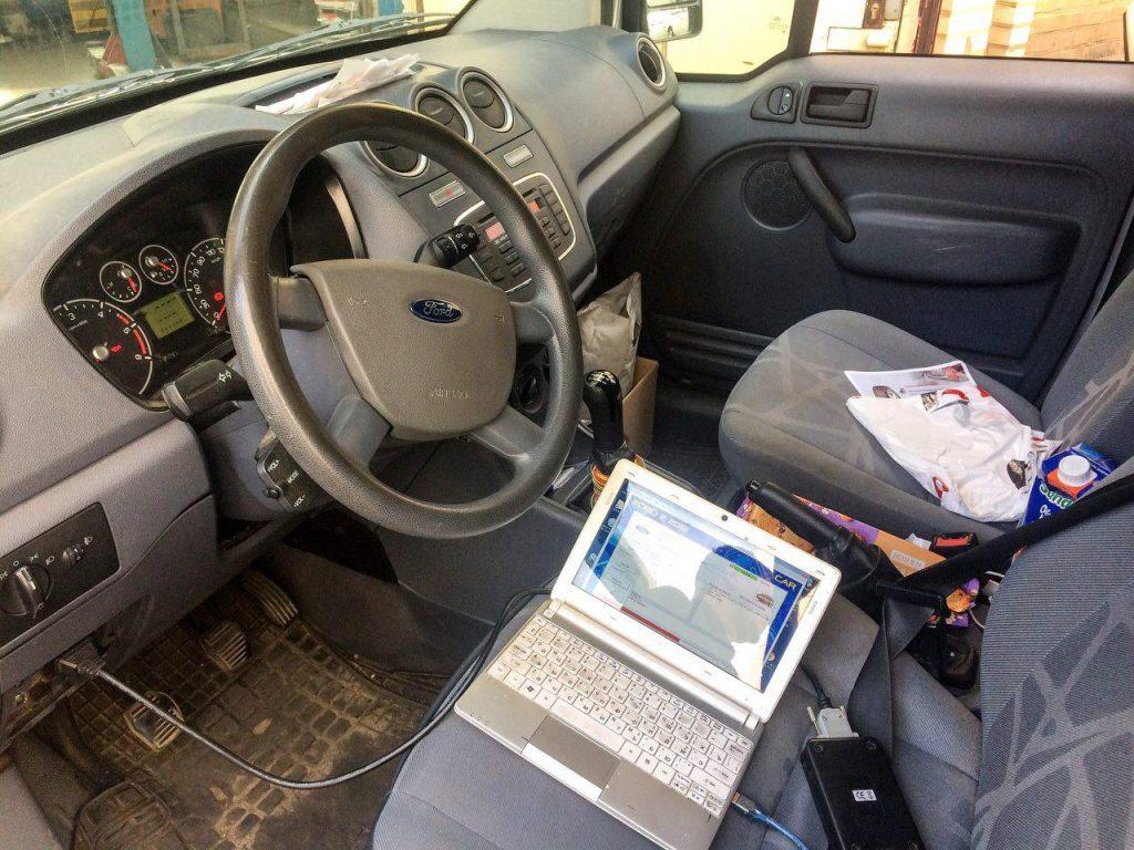 Отключение и удаление сажевого фильтра Ford Transit Connect 1.8 TDCI 2012, удаление катализатора