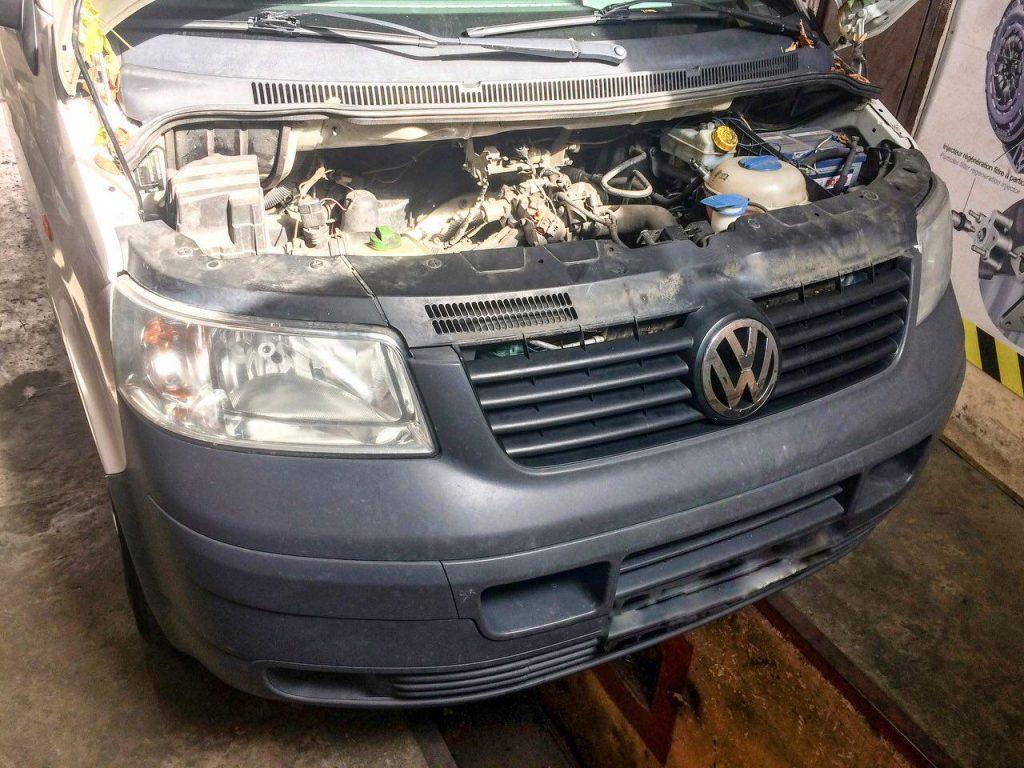 Удалить катализатор и сажевый Volkswagen T5 1.9 TDI 2008