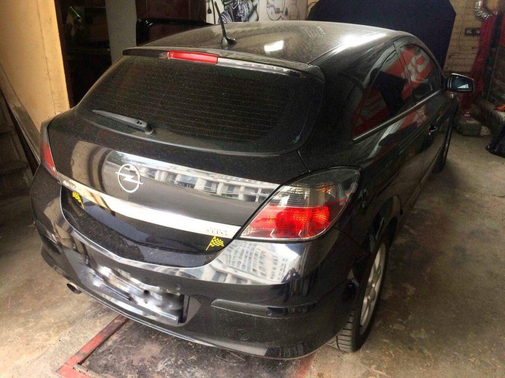 Opel Astra 1.9 CDTI 2006 удалить сажевый фильтр