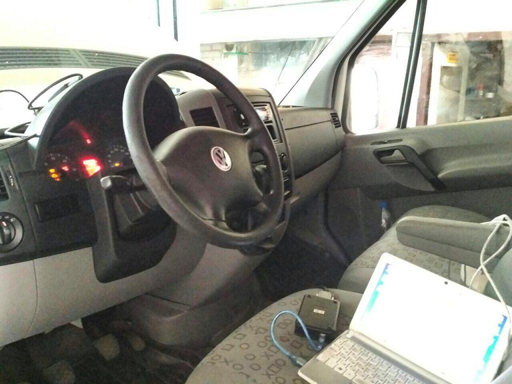 Программное отключение сажевого фильтра и клапана ЕГР Volkswagen Crafter 2.5 TDI 2010