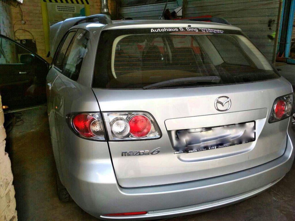 Удалить сажевый фильтр Mazda 6 2.2 CiTD 2007