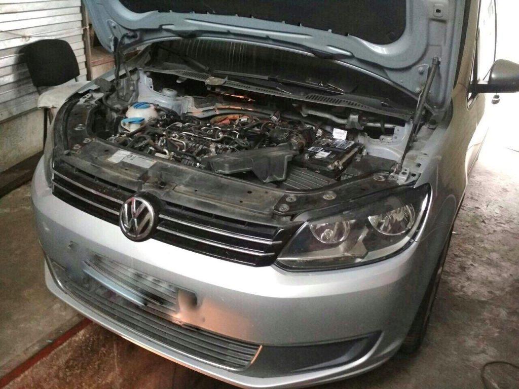 Удалить и отключить сажевый фильтр на Volkswagen Touran 2.0 TDI Bluemotion 2010