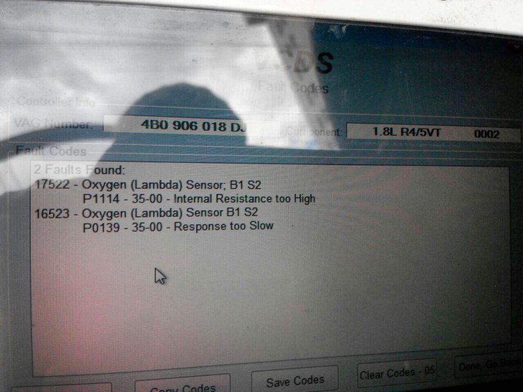 Второй лямбда-зонд, отключение на Skoda Superb 1.8 Turbo 2007