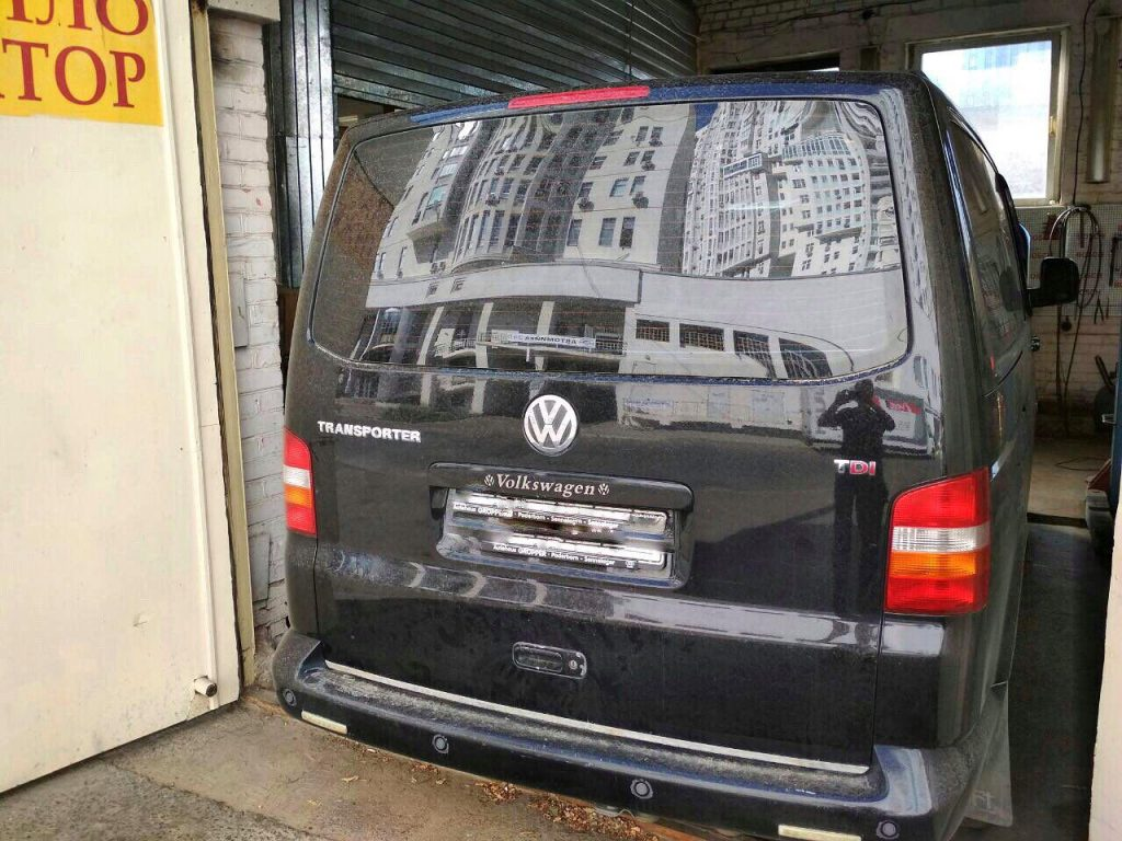Удалить сажевый фильтр на Volkswagen Transporter 1.9 TDI 2009