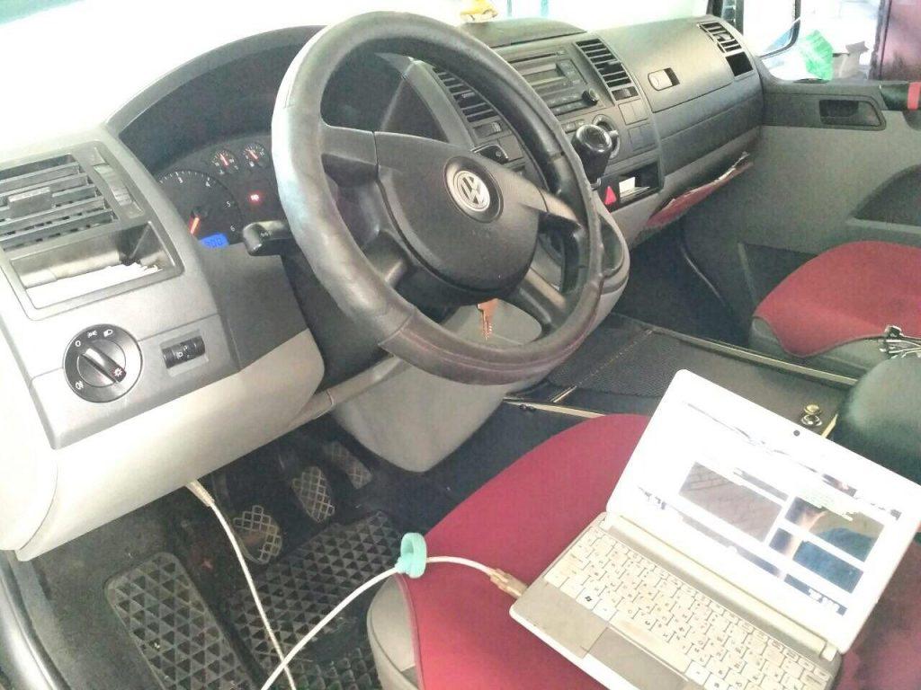 Отключение сажевого и удаление, отключение ЕГР на Volkswagen Transporter 1.9 TDI 2009