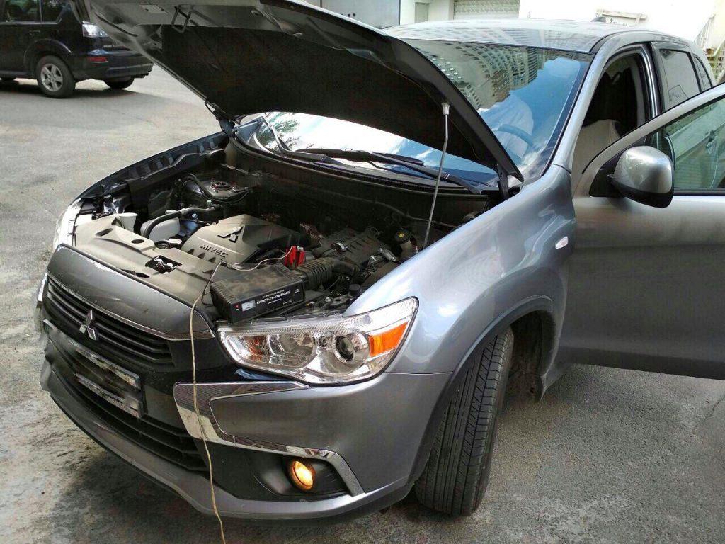 Настроить зажигание под газ Mitsubishi ASX 1.6 2017