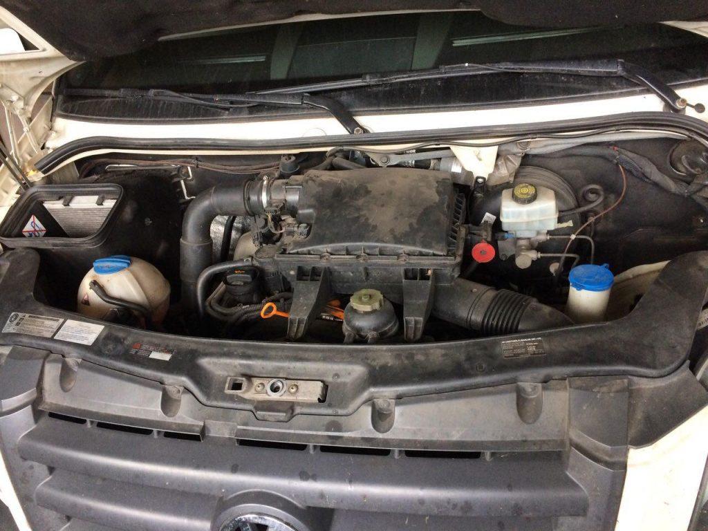Volkswagen Crafter 2.5 TDI 2011 удалить фильтр сажевый