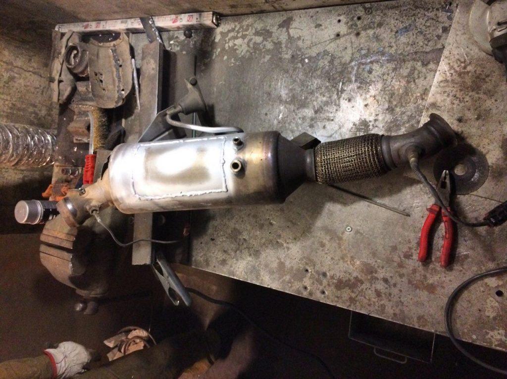 Сажевый фильтр отключение и удаление Volkswagen Crafter 2.5 TDI 2011