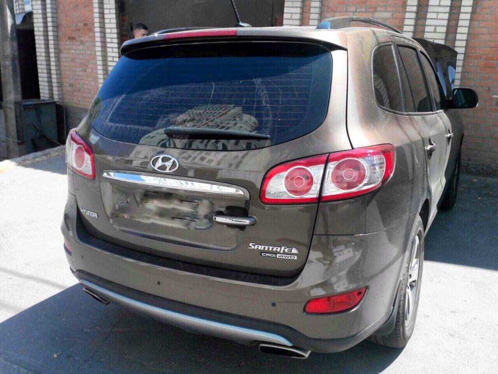 Удалить сажевый фильтр Hyundai SantaFe 2.2 CRDI 2011