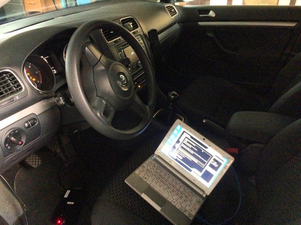 Отключить и удалить сажевый фильтр Volkswagen Golf 6 1.6 TDI 2011