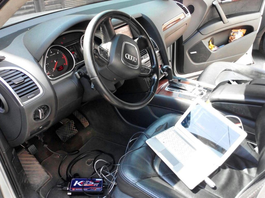 Отключение вихревых заслонок Audi Q7 3.0 TDI 2009