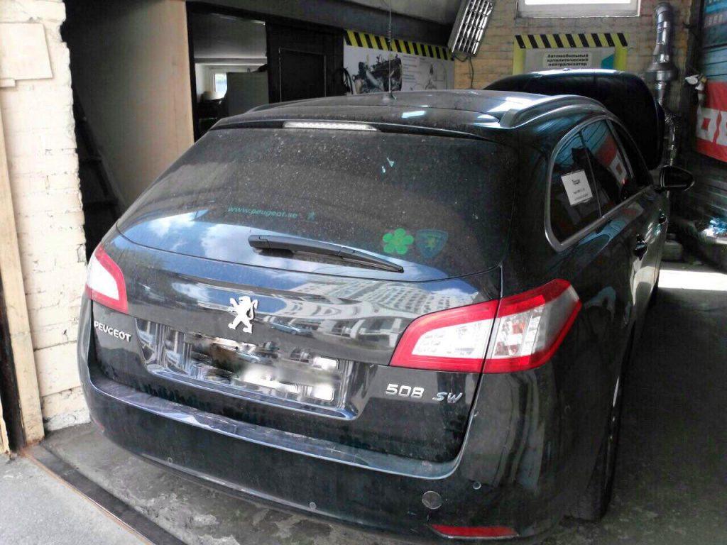 Удалить сажевый фильтр Peugeot 508 1.6 HDI