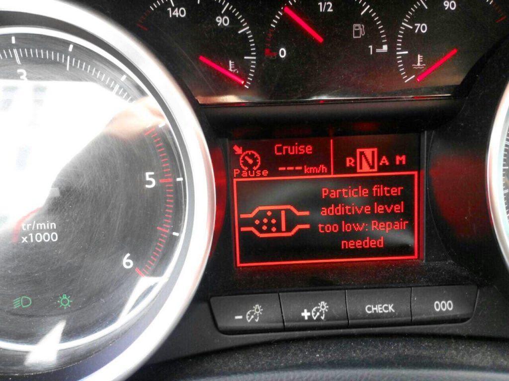 Peugeot 508 1.6 HDI удаление сажевого фильтра и отключение мочевины