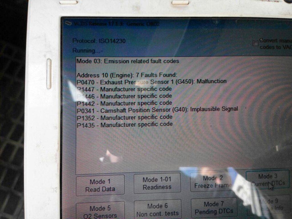 Отключить ЕГР и удалить сажевый фильтр Ford Transit 2.2 TDCI 2013 SID208