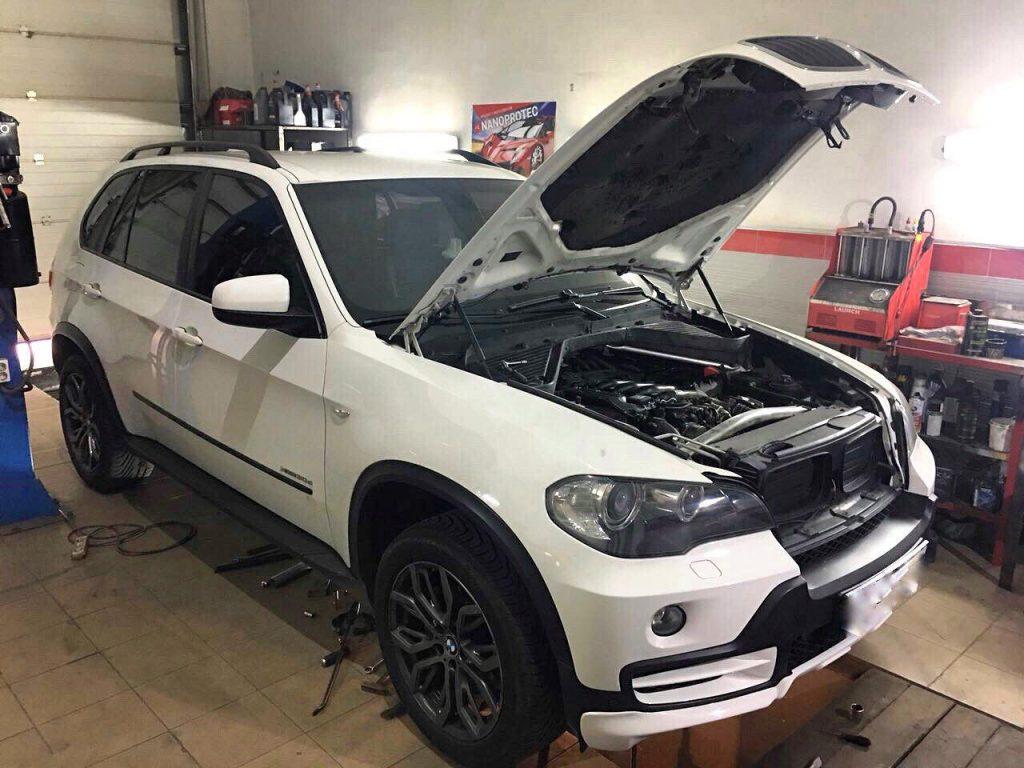 Удалить сажевый фильтр BMW X5 3.0 d 2009