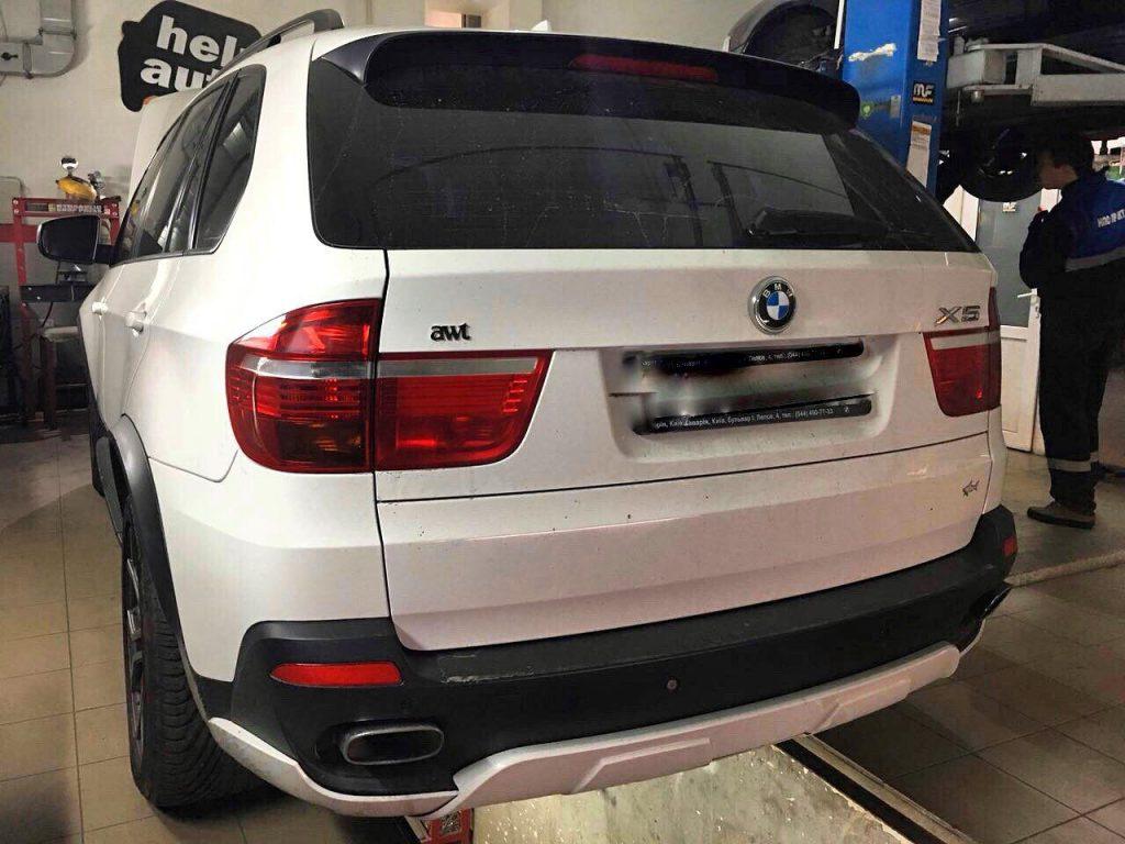 Сажевый фильтр удалить и отключить на BMW X5 3.0 d 2009