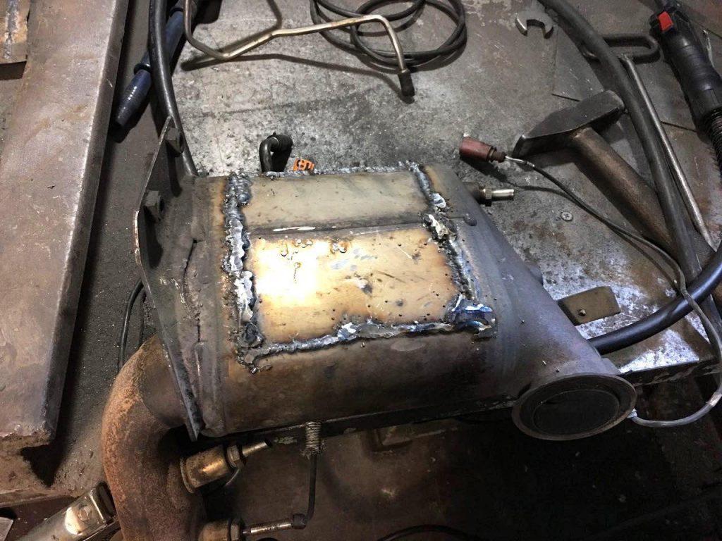 Удаление сажевого фильтра Volkswagen Caddy 2.0 TDI 2008