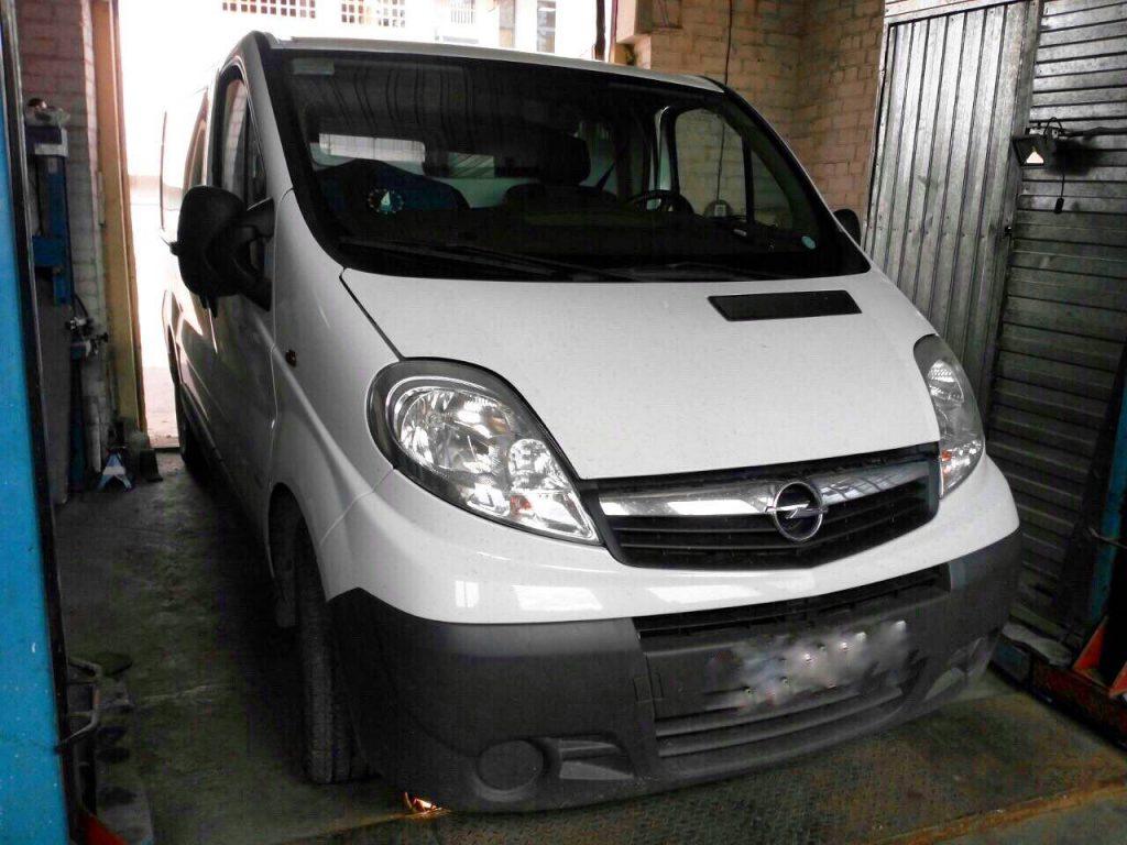 Сажевый фильтр отключить и удалить на Opel Vivaro 2.0 CDTI 2011