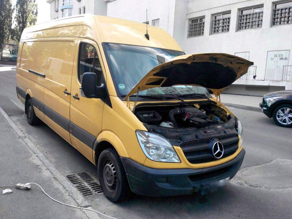 Удалить сажевый фильтр и отключить Mercedes Sprinter 316 2.2 CDI 2012