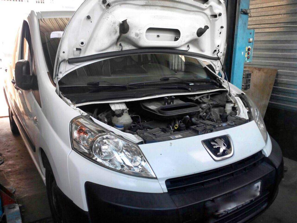Удалить сажевый фильтр и отключить на Peugeot Expert 2.0 HDI 2008
