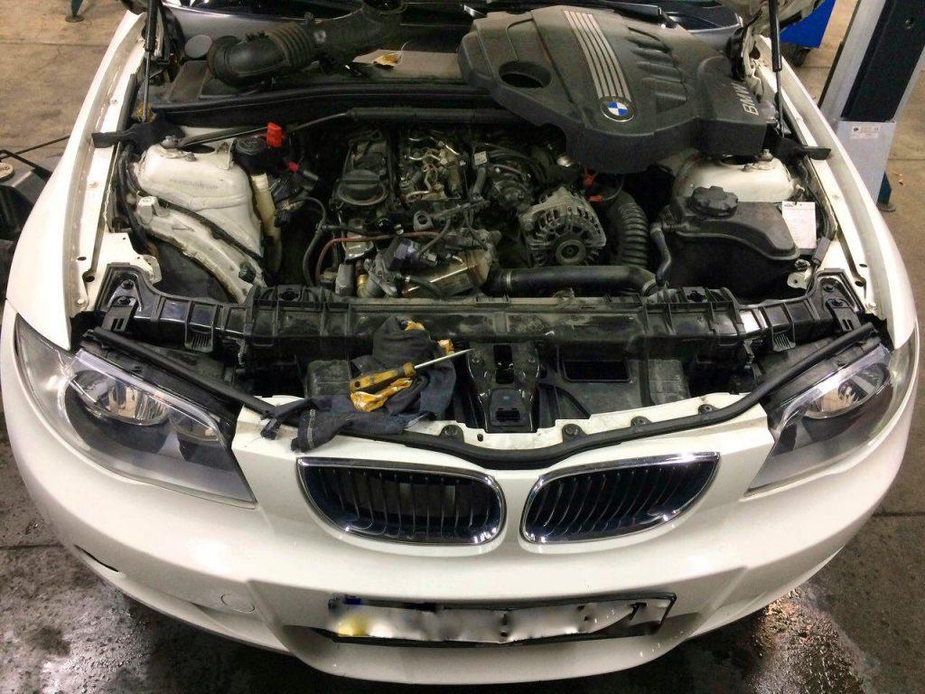 Заглушить клапан ЕГР и удалить сажевый фильтр на BMW 118d 2010
