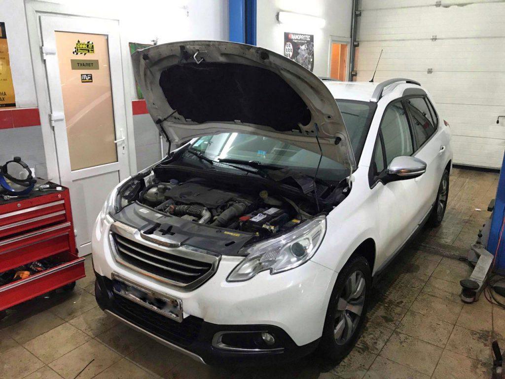 Отключить и удалить сажевый фильтр Peugeot 2008 1.6 HDI 2013