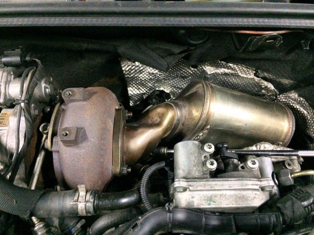 Удаление сажевого фильтра и отключение Audi А4 3.0 TDi 2006