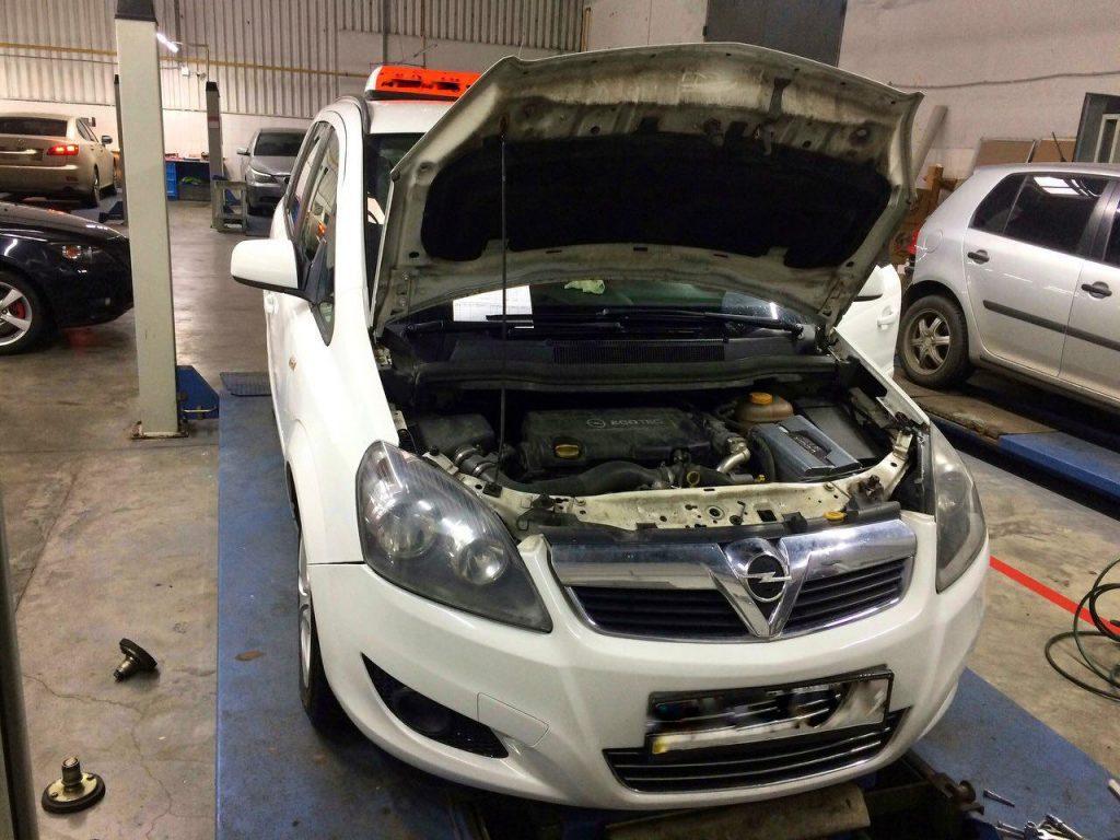 Отключить сажевый фильтр и удалить на Opel Zafira B 1.7 CDTI 2013