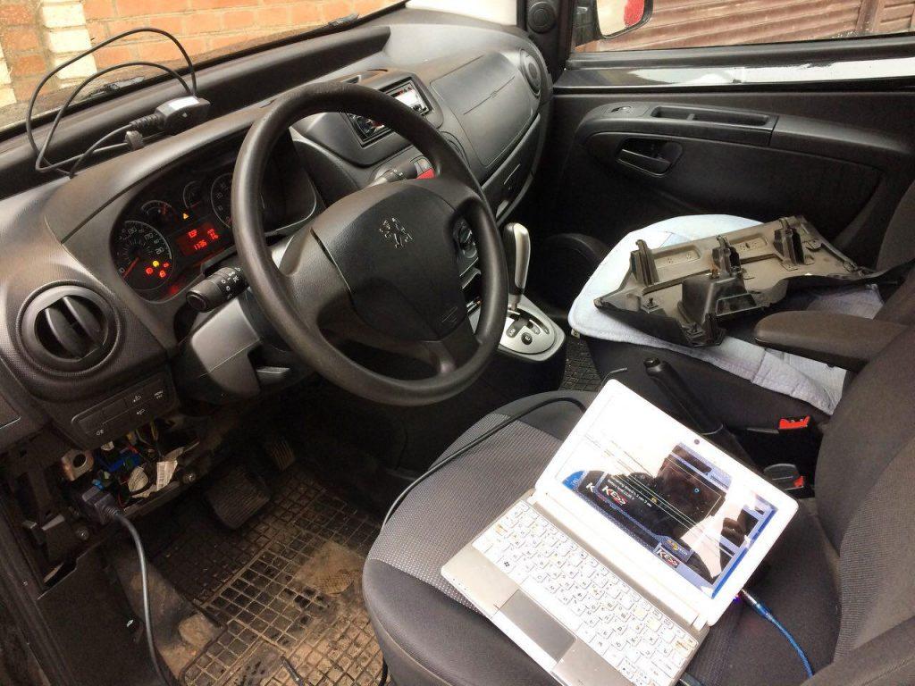 Peugeot Bipper 1.3 HDI 2011 отключение сажевого фильтра и клапана ЕГР