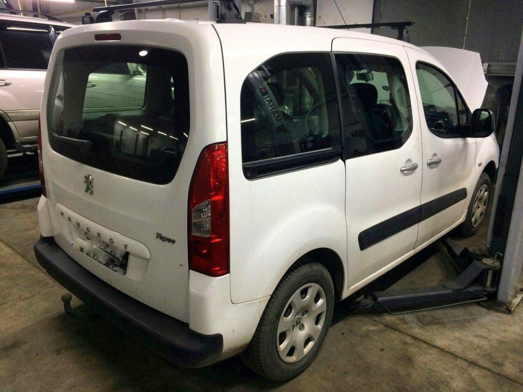 Отключение сажевого фильтра Peugeot Partner 1.6 HDI 2011