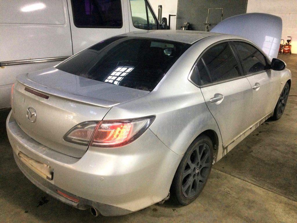 Отключить катализатор и удалить Mazda 6 2.5 2008