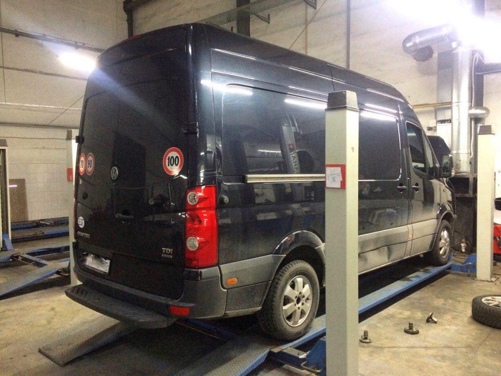 Отключение сажевого фильтра и клапана ЕГР, а так же удаление сажевого фильтра и катализатора, заглушка клапана ЕГР в Киеве Volkswagen Crafter 2.5 TDi 2013