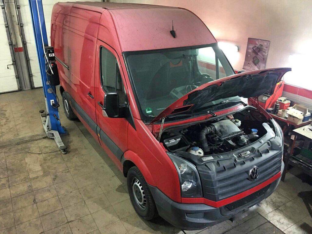 Отключение и удаление сажевого фильтра Volkswagen Crafter 2.0 TDI 2013