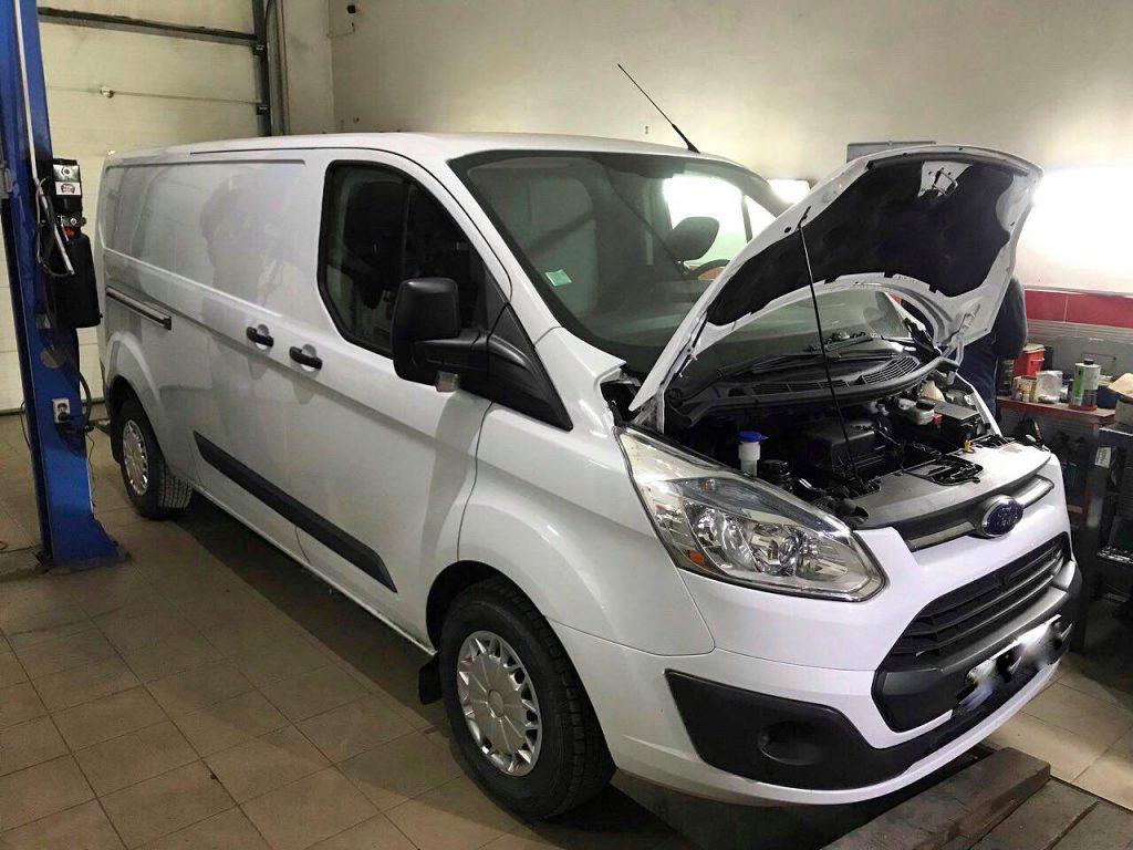 Отключение и удаление сажевого фильтра и катализатора Ford Transit Custom 2.2 TDCI 2013