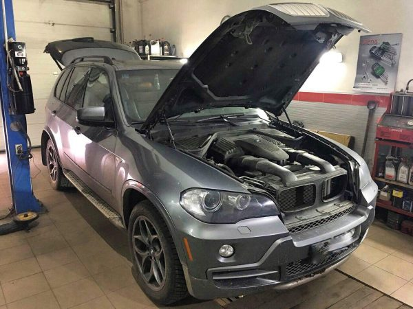 Удаление и отключение катализаторов BMW X5 4.8 2008