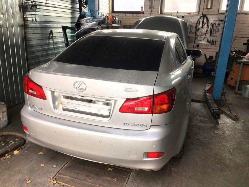 Удалить сажевый фильтр на Lexus IS 220d 2.2 2007