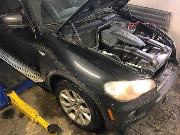 Удаление и отключение катализаторов на BMW X5 4.8 2008