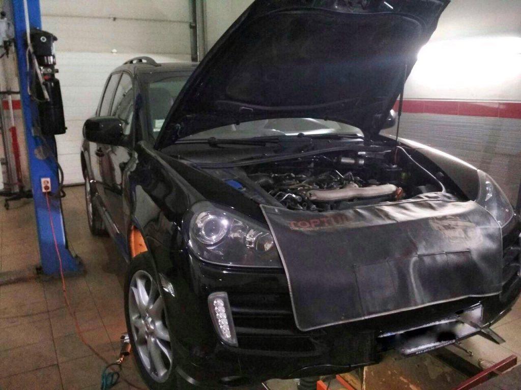 Удаление сажевого фильтра и отключение Porsche Cayenne 3.0 TDi 2009