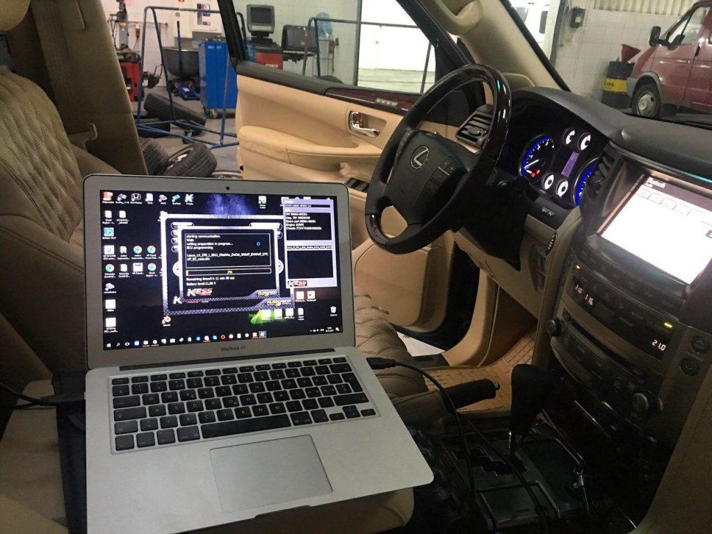 Lexus LX570 2012 отключение продувки SAI и EVAP, отключение катализаторов