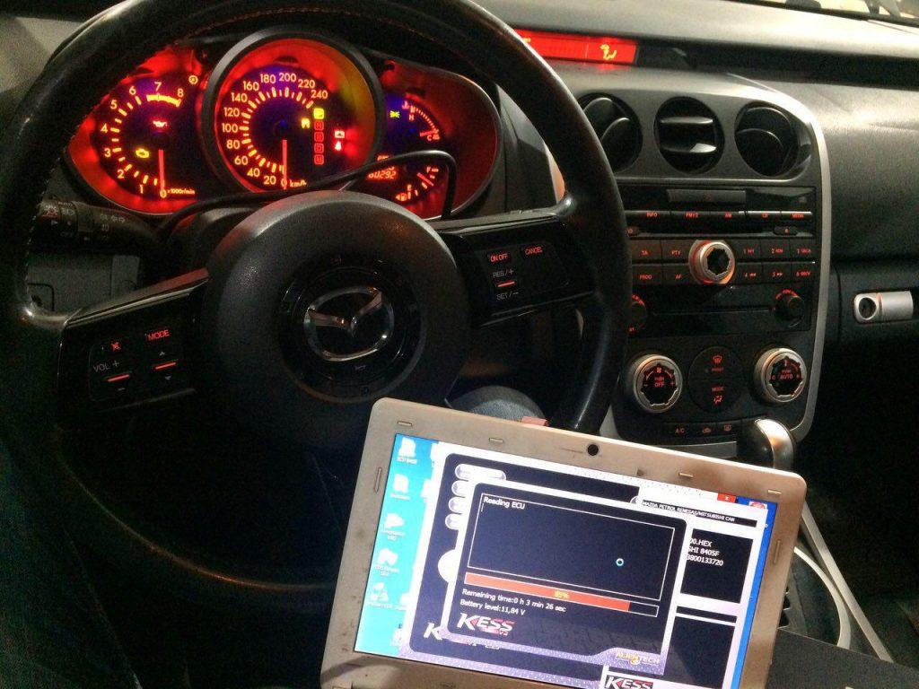 Mazda CX-7 2.3 Turbo 2008 отключить катализаторы и сделать чип-тюнинг в Киеве