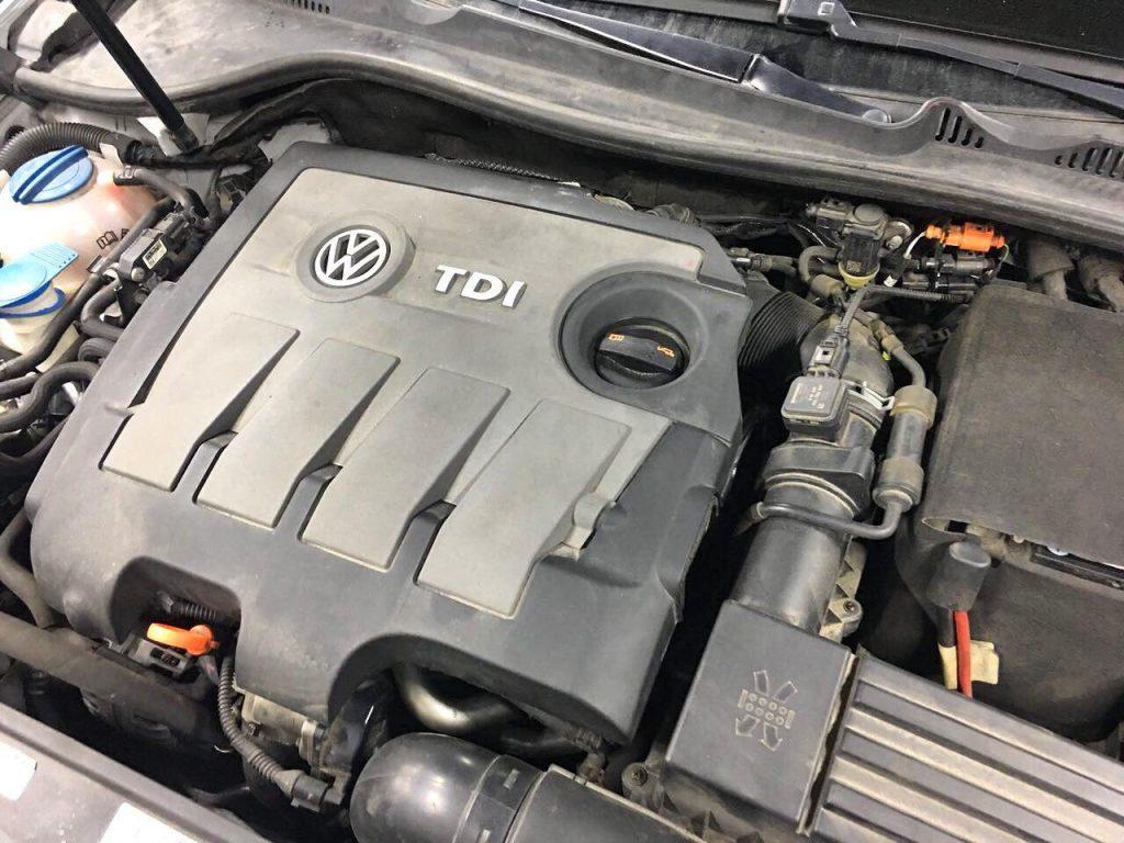 Volkswagen Golf 1.6 TDi 2011 удалить и отключить сажевый фильтр